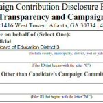 Campaign Disclosures